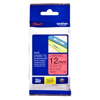 Brother TZe-431 cinta para impresora de etiquetas Negro sobre rojo - Imagen 1