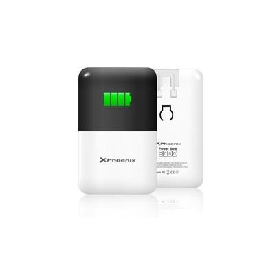Cargador +  bateria portatil phoenix power bank 3000 mah ipad - iphone 4 5 6  - tablet - moviles - smartphones - mp4 - gps - cua