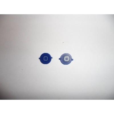 Repuesto boton home para apple iphone 4g azul oscuro - Imagen 1