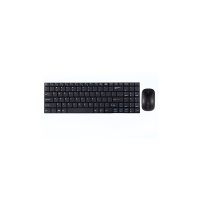 Combo teclado ingles multimedia phoenix ultra fino negro +  raton inalambrico phoenix 2.4ghz 1000 - 2000 dpi negro - Imagen 1