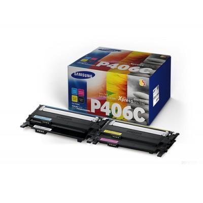 Samsung CLT-P406C cartucho de tóner Original Negro, Azul, Magenta, Amarillo 4 pieza(s) - Imagen 1