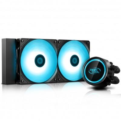 Ventilador disipador cpu gaming deepcool gammaxx l240 v2 rgb doble ventilador 120mm + refrigeracion liquida - Imagen 1