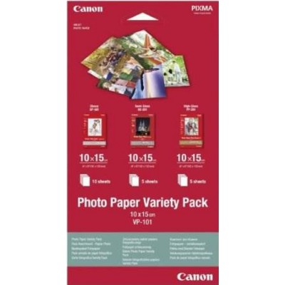 Canon Photo Paper Variety Pack papel fotográfico - Imagen 1
