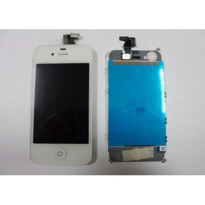 Repuesto pantalla lcd+touch completa para apple iphone 4g blanco - Imagen 1