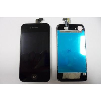 Repuesto pantalla lcd+touch completa para apple iphone 4g negro - Imagen 1