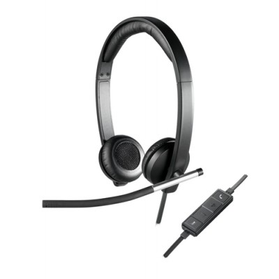Logitech H650E Auriculares Diadema Negro, Plata - Imagen 1