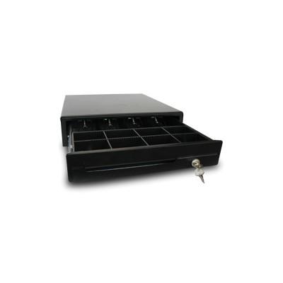 Cajon portamonedas manual phoenix 41x42 compartimentos monedas + 4* billetes rodamientos railes metalicos  negro - Imagen 1