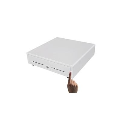 Cajon portamonedas manual phoenix 41x42 compartimentos monedas + 4* billetes rodamientos railes metalicos blanco - beige - Image