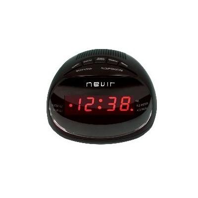 Radio reloj despertador nevir nvr - 333 negro digital alarma dual - Imagen 1