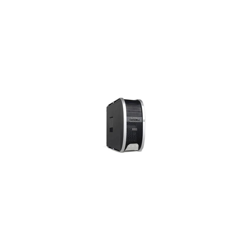 Caja ordenador semitorre atx phoenix 3806 gaming  2 usb hd audio. negro y plateado con lector tarjetas sin fuente - Imagen 1