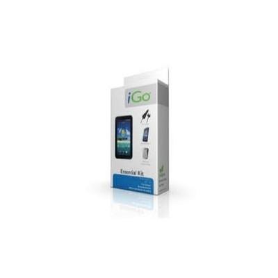 Accesorio ipad 2 essential kit igo. funda protectora silicona + protector pantalla diamant+ cargador mechero - coche + cable car