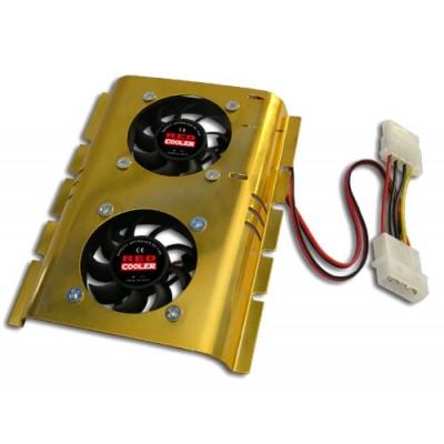 Ventilador doble con disipador para disco duro 3.5'' interno del pc - Imagen 1