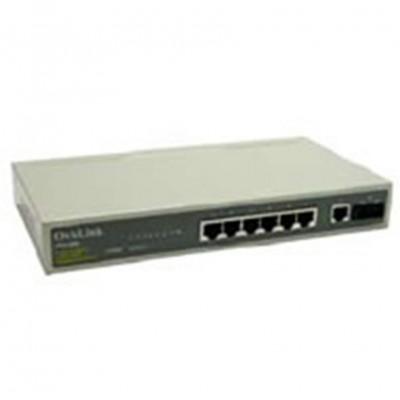 Switch  7 puertos 10pulgadas rj45 10 - 100 + 1 puerto fibra optica 100mbps tipo sc ovislink - Imagen 1