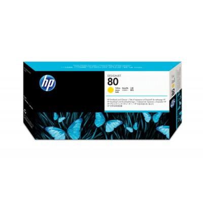 HP Limpiador de cabezales de impresión y cabezal de impresión DesignJet 80 amarillo - Imagen 1