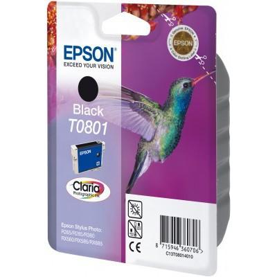Epson Hummingbird Singlepack Black T0801 Claria Photographic Ink - Imagen 3