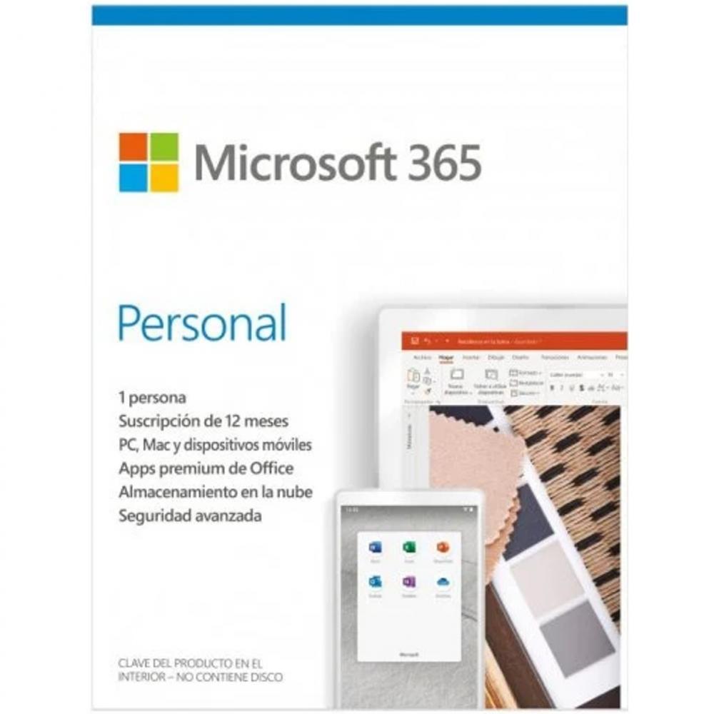 Microsoft 365 personal 1 licencia 1 año (caja) new - Imagen 1