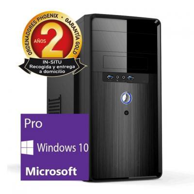 Ordenador pc phoenix topvalue intel pentium dual core 4gb ddr4 120gb ssd micro atx windows 10 pro - Imagen 1