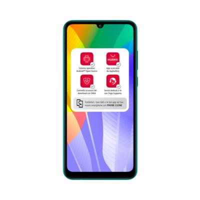 "Huawei Y6p 16 cm (6.3"") 3 GB 64 GB SIM doble 4G MicroUSB Verde Android 10.0 Huawei Mobile Services (HMS) 5000 mAh - Imagen 1"