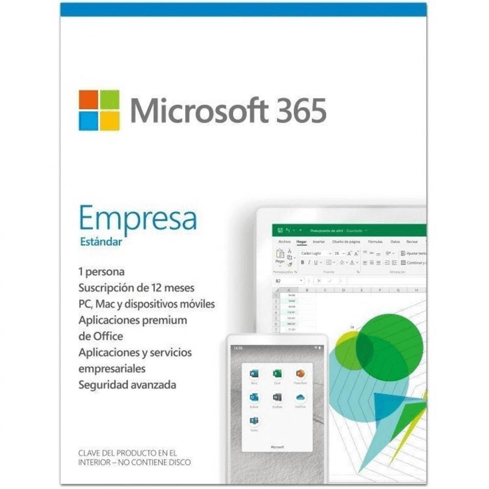 Microsoft 365 empresa estandar 1 licencia 1 año caja (new) - Imagen 1