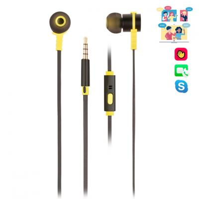 Auriculares metalicos ngs crossrallyblack - tecnologia voz assistant - 20hz - 20khz - 95db  - jack 3.5mm - cable 1.2m - Imagen 1