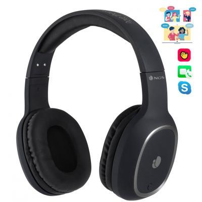 Auriculares bluetooth ngs articaprideblack - alcance 10m - microfono - diadema ajustable -  bateria 180mah - Imagen 1