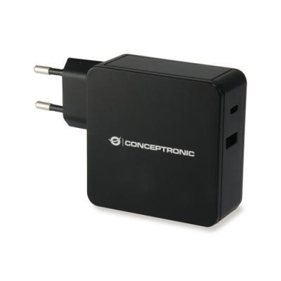 Conceptronic ALTHEA02B cargador de dispositivo móvil Interior Negro - Imagen 1