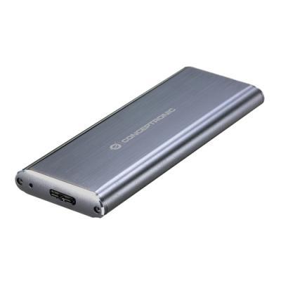 Conceptronic DDE03G caja para disco duro externo M.2 Caja externa para unidad de estado sólido (SSD) Gris - Imagen 1