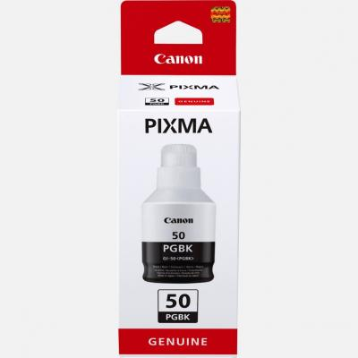 Botella tinta canon gi - 50pgbk negro 135ml 6000 paginas - Imagen 1