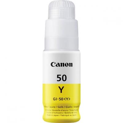 Botella tinta canon gi - 50y amarillo 70ml 7700 paginas - Imagen 1