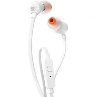 Auriculares intrauditivos jbl t110 white - pure bass - drivers 9mm - cable plano - manos libres - Imagen 1