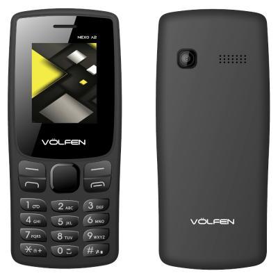 Telefono movil volfen a2 negro pantalla 1.8pulgadas -  camara  - radio fm - dual sim - micro sd - bateria larga duracion - Image
