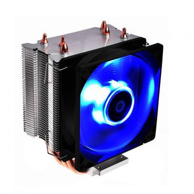 Ventilador disipador coolbox deep twister iii gaming led azul  para intel y amd - Imagen 1