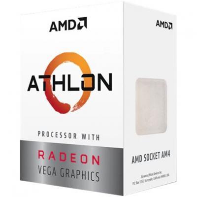 Micro. procesador amd athlon 3000g 2 core 3.5ghz 4mb am4 radeon rx vega 3 - Imagen 1