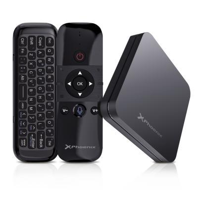 Android tv phoenix android 9.0 4gb ddr3 32gb rom 4k 60 fps wifi dual 5ghz mando con control por voz - Imagen 1