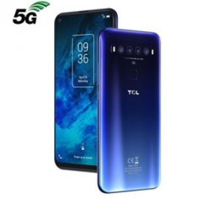 Telefono movil smartphone tcl 10 5g  blue - 6.53pulgadas -   128 gb rom -  6gb ram -   nxtvision -  video 4k -  64+8+5+2 mpx -
