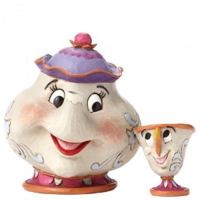 Figura enesco disney la bella y la bestia mrs potts & chip - Imagen 1