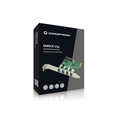 Conceptronic EMRICK02G tarjeta y adaptador de interfaz USB 3.2 Gen 1 (3.1 Gen 1) Interno - Imagen 1