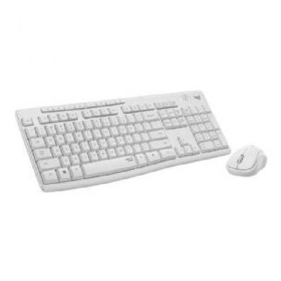 Teclado + mouse logitech mk295 silent blanco wireless inalambrico - Imagen 1