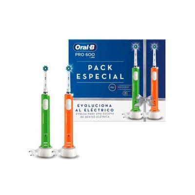 Cepillo dental electrico oral - b pro 600 duo 2xcabezal cross action -  temporizador -  2xmangos - Imagen 1