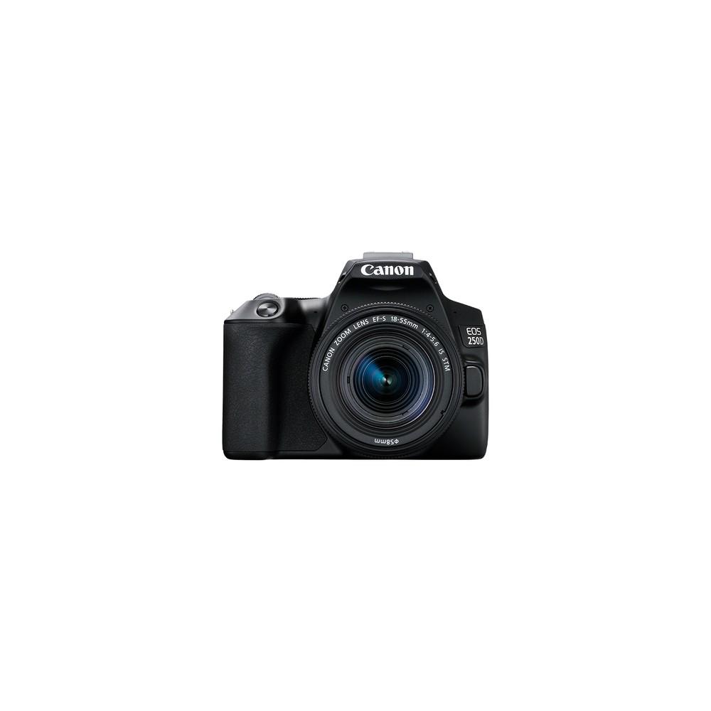 Canon EOS 250D + EF-S 18-55mm Juego de cámara SLR 24,1 MP CMOS 6000 x 4000 Pixeles Negro - Imagen 1