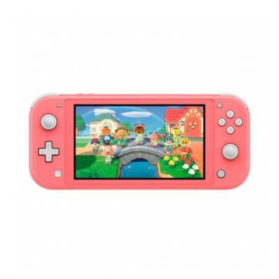 Consola nintendo switch lite coral + animal crossing new horizons + 3 meses nintendo switch online - Imagen 1