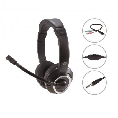 Auricular conceptronic polona02ba - jack 3.5mm - microfono - control volumen - Imagen 1