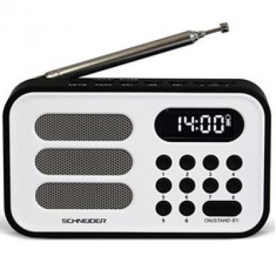 Radio digital schneider handy mini blanco - Imagen 1