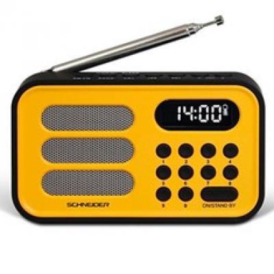 Radio digital schneider handy mini amarillo - Imagen 1