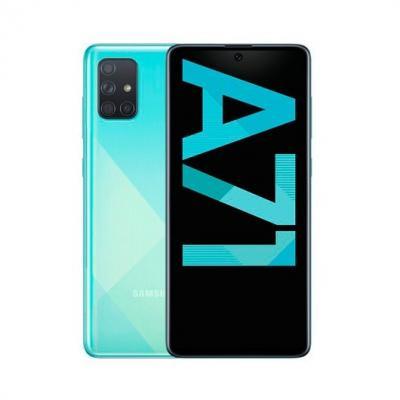 Telefono movil smartphone samsung galaxy a71 a715 6.7pulgadas - 128gb rom - 6gb ram - 64+5+12+5 mp - lector de huella - ds azul
