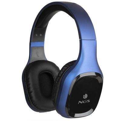 Auriculares bluetooth ngs articaslothblue - alcance 10 m - manos libres - bt 5.0 - diadema ajustable - gris - Imagen 1