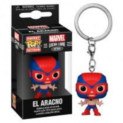 Funko pop keychain llavero marvel luchadores spider - man 53890 - Imagen 1