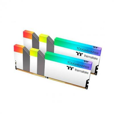 Modulo memoria ram ddr4 16g 2x8g pc3600 thermaltake toughram b - rgb - cl18 1.35v - blanco - Imagen 1