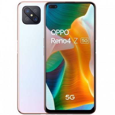 Telefono movil smartphone oppo reno 4z 5g dew white 6.57pulgadas - 128gb rom -  8gb ram -  48+8+2+2mpx -  16+2mpx -  huella -  1