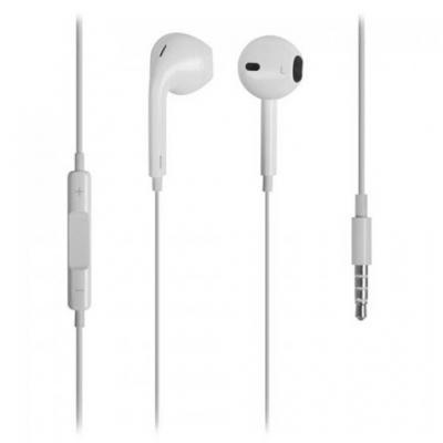 Auriculares l - link  con microfono y volumen  color blanco - Imagen 1